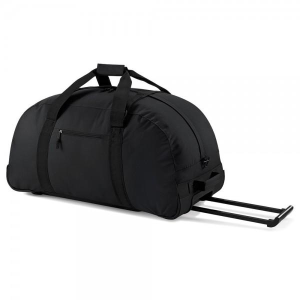Große Spielertasche, Football Equipment Tasche mit Rollen - schwarz
