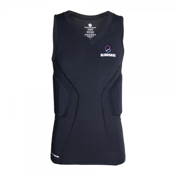 BLINDSAVE Padded Compression Shirt Pro, 3 Pad Shirt