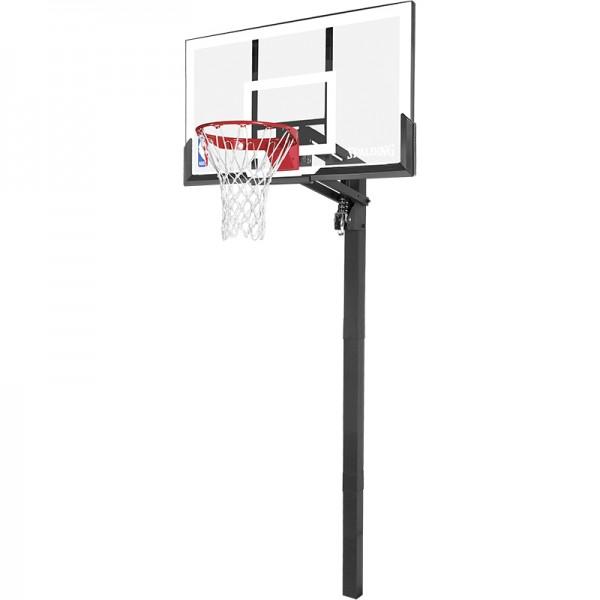 Spalding NBA GOLD IN-GROUND Basketball Backboard Board Korbanlage mit Bodenhülse